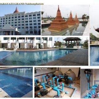 ติดตั้งงานระบบและอุปกรณ์สระว่ายน้ำ บ่อพอน ระบบจากูซี่ โรงแรมไมด้า ทราวดีแกรนด์ นครปฐม (Mida Group)