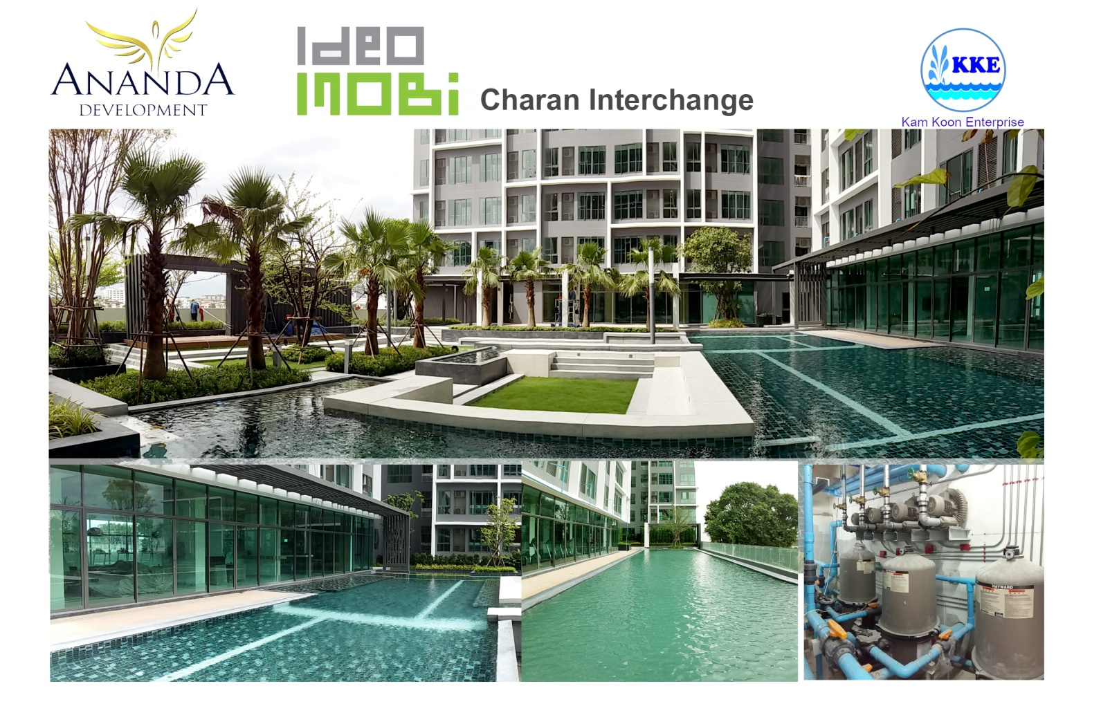 ติดตั้งงานระบบและอุปกรณ์สระว่ายน้ำ โครงการ ไอดีโอ โมบิ จรัญอินเตอร์เชนจ์ (Neo 727- Ananda)